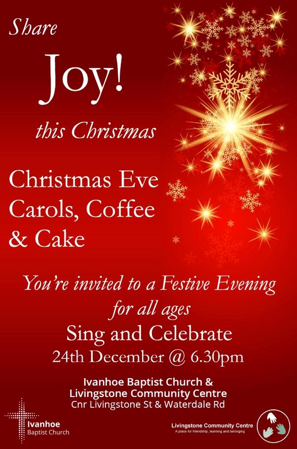Christmas Eve Carols Invitation
